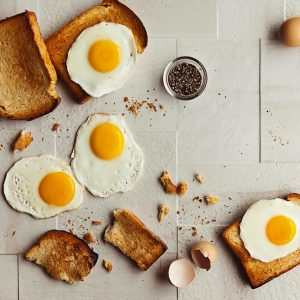 eggs bread